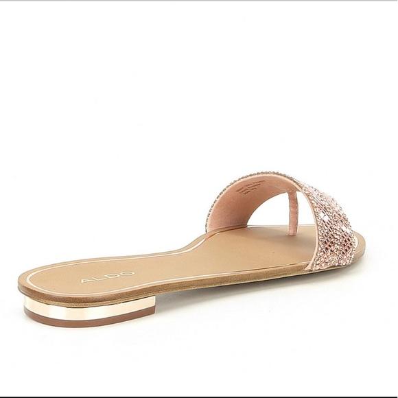 2aa7663001 Aldo Shoes | Embellished Sandals In Rose Gold Color | Poshmark